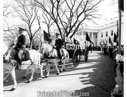 Kennedy Funeral Carriage Departs  2287