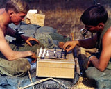 Vietnam SOLDIERS Playing Chess  2443