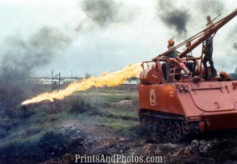 Vietnam Jungle Clearing Flame Thrower 2450