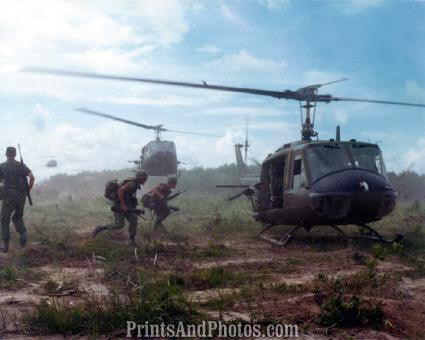 Vietnam UH-1D Helicopter Airlift  2493