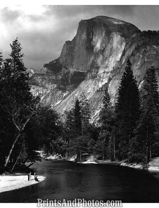 MERCED River YOSEMITE 1950s  2566