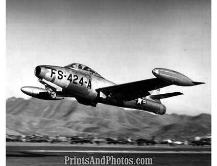 AIR FORCE F84 Thunder Jet WW II PLANE 2577