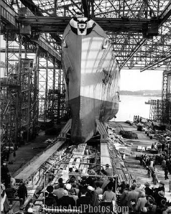 Navy Cruiser USS Northampton Launching 2676