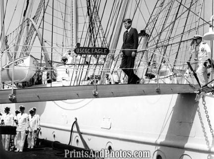 John F Kennedy On Board USCGC Eagle 2803