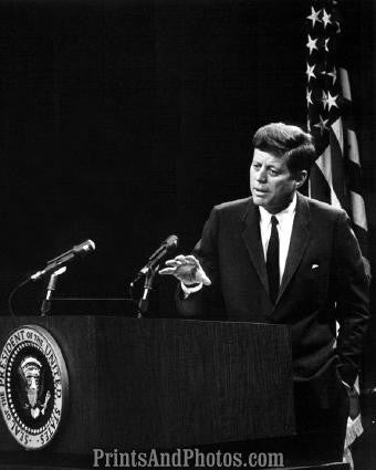 John F Kennedy at Podium  2810