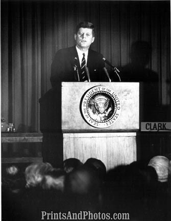 John F Kennedy at Podium  2812