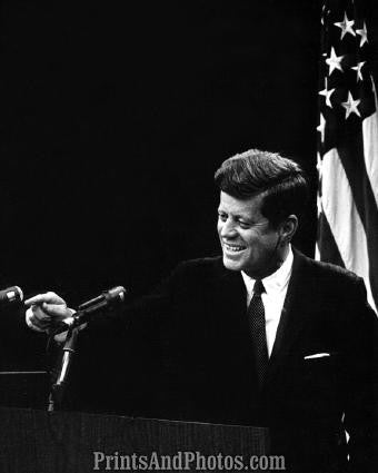John F Kennedy at Podium  2813