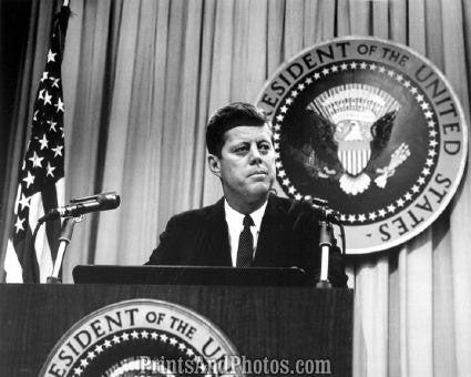 John F Kennedy at Podium  2814