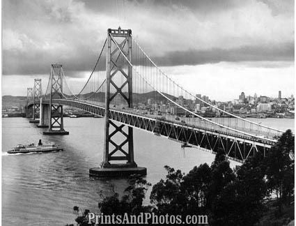 Oakland Bay Bridge 1951  Print 2850
