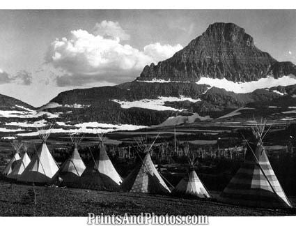 GLACIER Natl Park Indian Teepee  3054