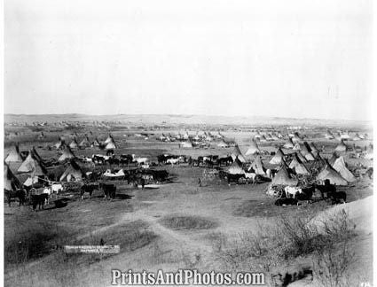 American Indian Hostile Camp  3086