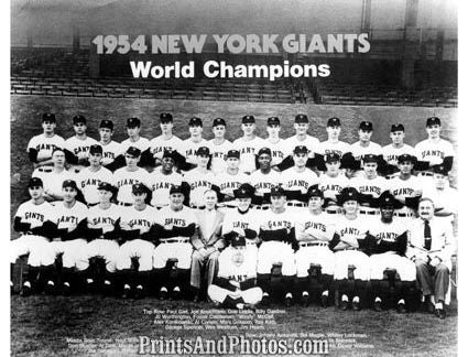 1954 New York Giants Team  3208 - Prints and Photos