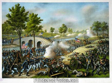 CIVIL WAR Battle Anita Army Potomac Print 3226