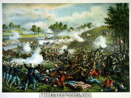 CIVIL WAR  Battle Bull Run Print 3227