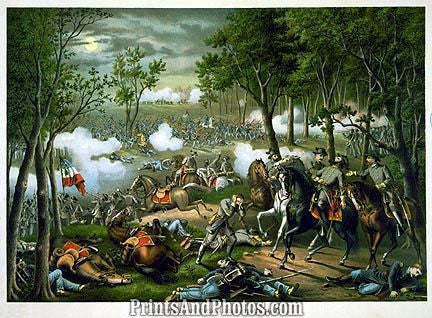 CIVIL WAR  Battle Chancellorsville Print 3228