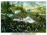 CIVIL WAR  Battle Chickamauga Print 3229