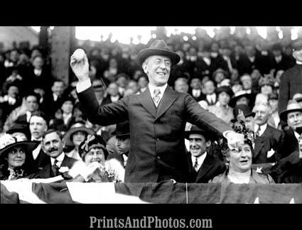 Woodrow Wilson Throws First Ball 3256