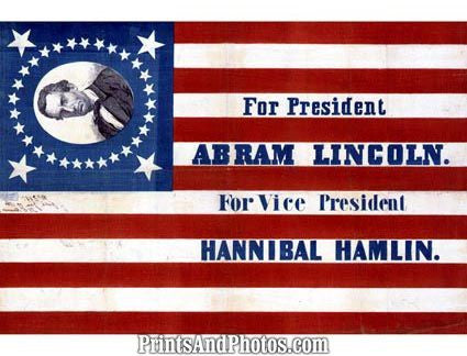 ABRAHAM LINCOLN for President  3259