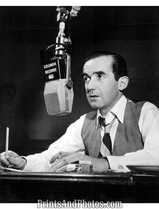 CBS Reporter Edward R Murrow  3329