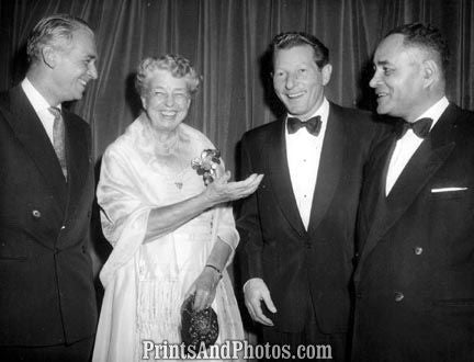Fairbanks Jr Mrs Roosevelt Danny Kaye 3343