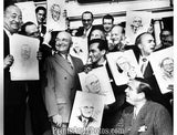 President TRUMAN with Cartoonists  3412