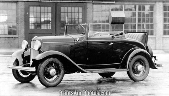1932 Ford Convertible Model 8  3434 - Prints and Photos