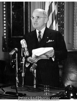 President Truman Atomic Bomb Address 3531