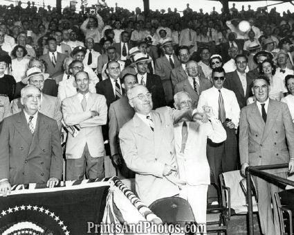 President Truman Throwing Baseball  3542