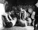 PROHIBITION Kegs Of Beer Being Destroyed 3552