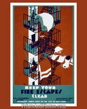Keep Your Fire Escapes Clear NYC Ad 3609