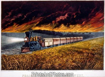 Prairie Fires Great West TRAIN  3629