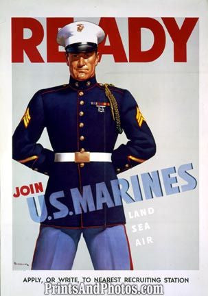 WWII Ready Join US Marines  3632