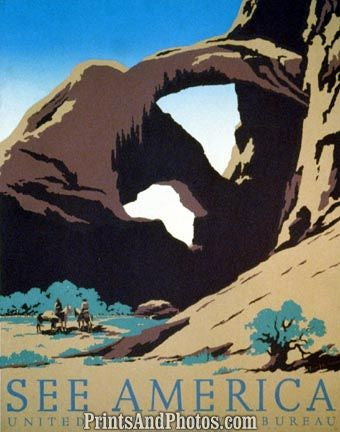 See America Frank S Nicholson ARCHES 3636