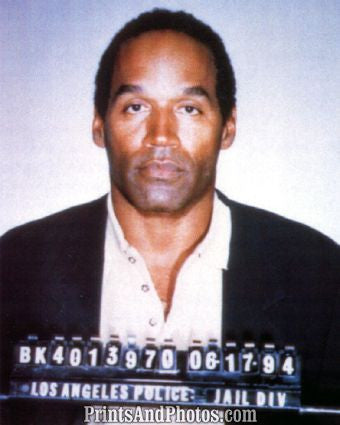 Bills OJ SIMPSON LAPD Mugshot 3733