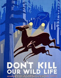 VINTAGE Don't Kill WILDLIFE Ad 3756