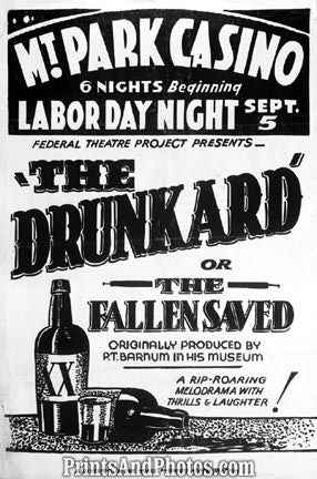 Drunkard Fallen Saved PT Barnum Ad  3759
