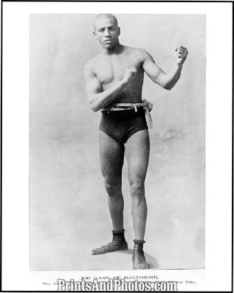 1900s Baltimore Boxer JOE GANS  3763 - Prints and Photos