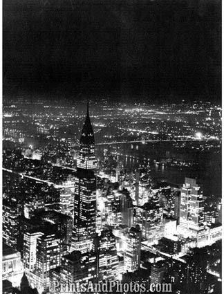 New York Night View 1940s  3992