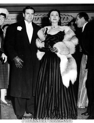 Vivien Leigh & Husband Laurence Olivier 4011