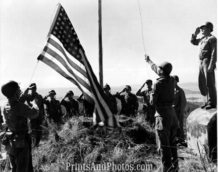 Marines WWII 5th Raise Flag  4030