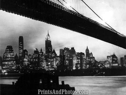 NEW YORK Skyline & Brooklyn Bridge 4173
