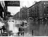 NEW YORK Flooded Columbus Ave  4182