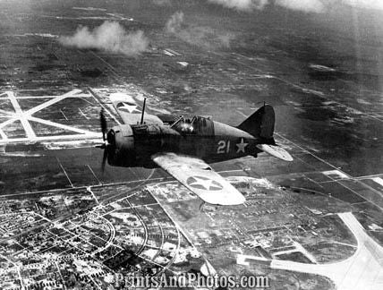 Marines Buffalo F2A-1 Fighter Plane  4366