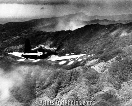 Marines Corsair Bombing Okinawa  4367