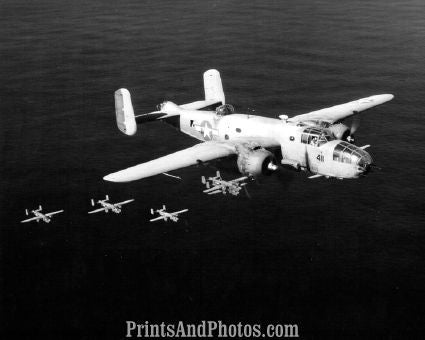 Marines PBJs Planes in Flight  4376
