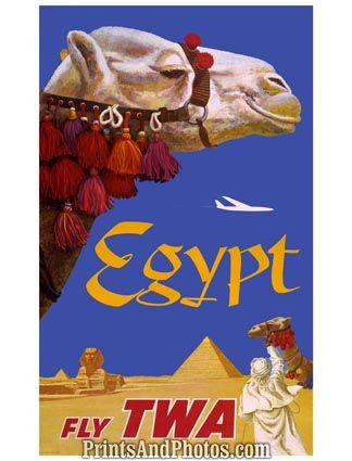 TWA Adv Fly to Egypt Ad 4423