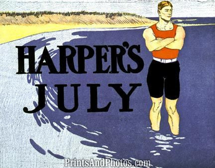Harpers July Beach Cover 4449