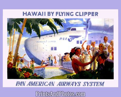 Pan American Airways Hawaii Adv.  4450