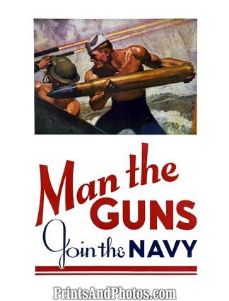 Man The Guns Join The Navy  4464