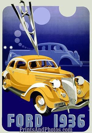 1936 Ford Mobil Oil Ad 4481 - Prints and Photos